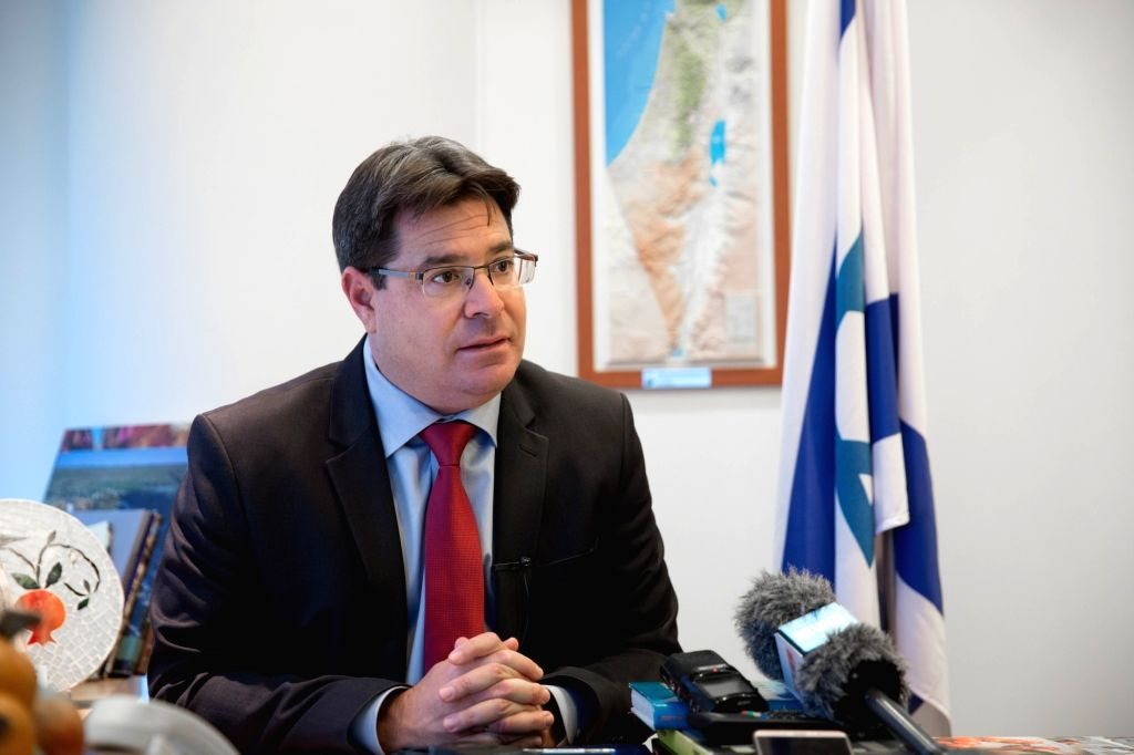 TEL AVIV, Nov. 3, 2018 - Israeli Minister of Science and Technology Ofir Akunis is interviewed with Xinhua in Tel Aviv, Israel, on Nov. 1, 2018. The upcoming China International Import Expo (CIIE) ...