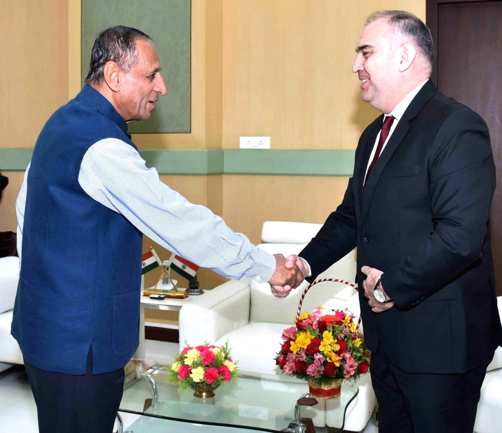 Telangana and Andhra Pradesh Governor E. S. L. Narasimhan meets Consulate General of Turkey, Adnan Altay Altinors in Hyderabad on Feb 14, 2018.