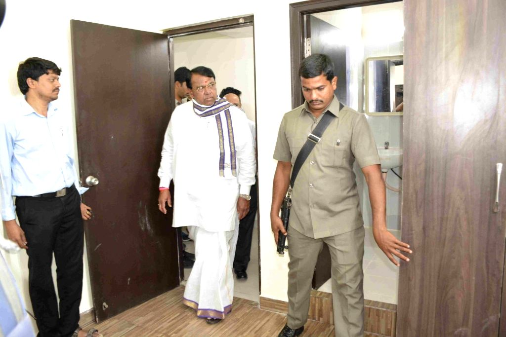 Telangana Speaker inspects newly constructed MLA Quarters