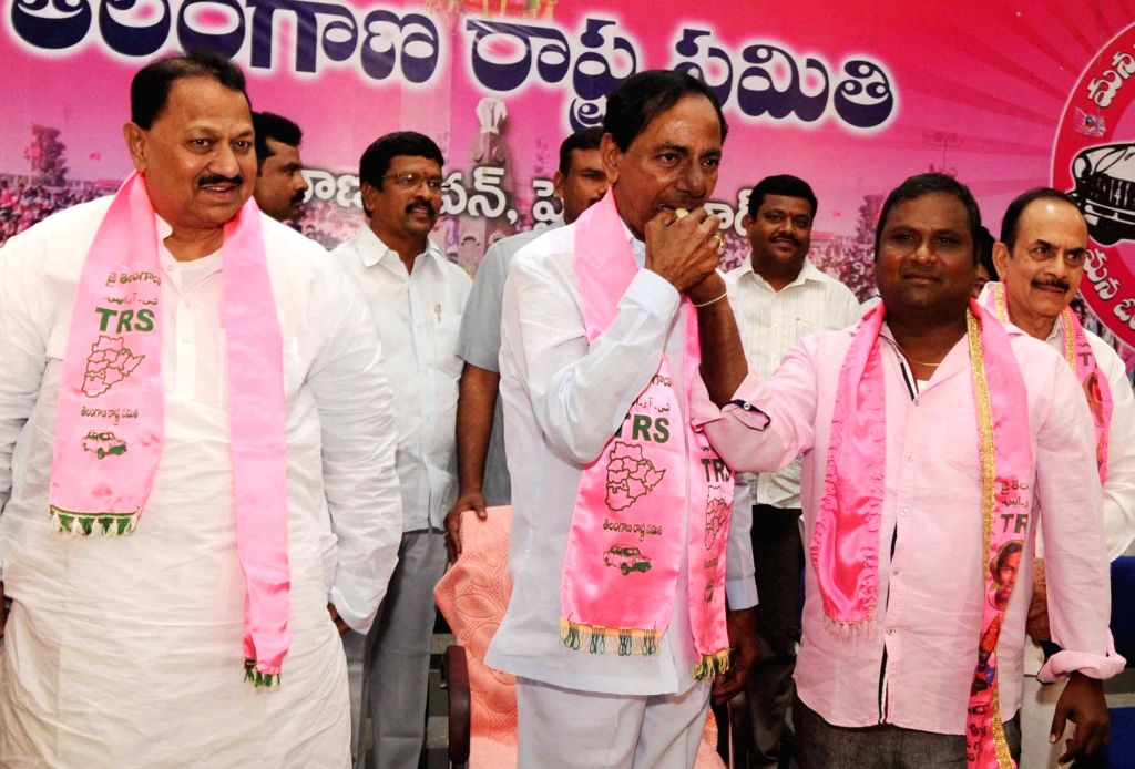 Telangana Chief Minister and TRS leader K Chandrasekhar Rao addresses during a party programme in Hyderabad, on May 19, 2016. - K Chandrasekhar Rao