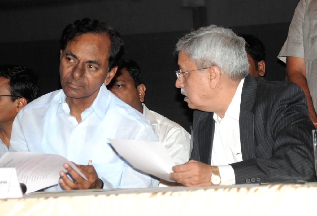 Telangana Chief Minister K Chandrasekhar Rao during a programme organised at a private hospital in Hyderabad on July 13, 2014. - K Chandrasekhar Rao