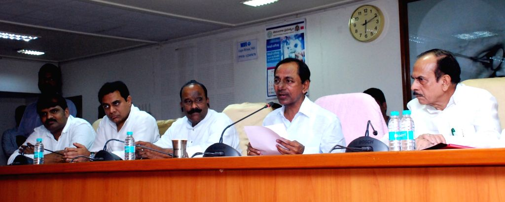 Telangana Chief Minister K Chandrasekhar Rao addresses a press conference in Hyderabad on Sept 24, 2016. - K Chandrasekhar Rao