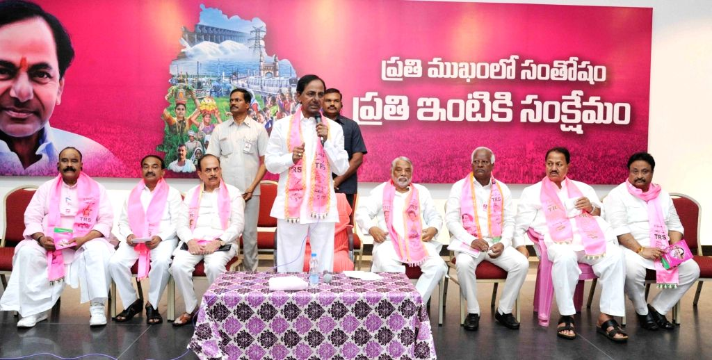 Telangana Chief Minister K Chandrasekhar Rao addresses during a press conference in Hyderabad, on May 27, 2017. - K Chandrasekhar Rao