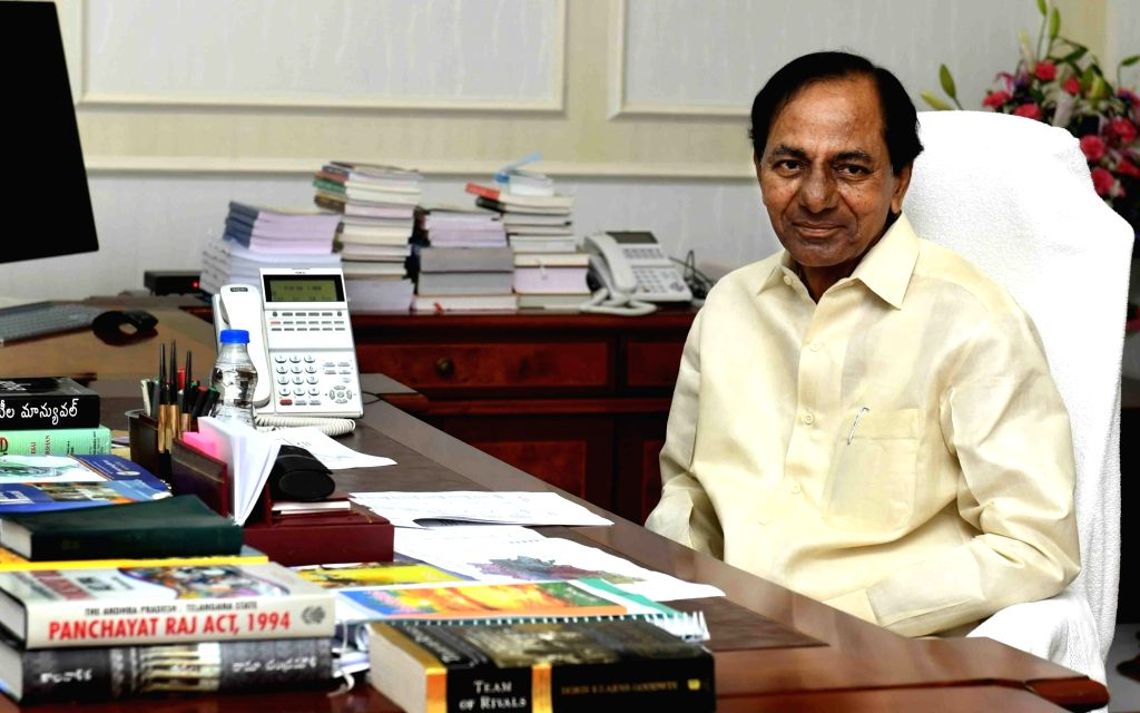 Telangana Chief Minister K. Chandrasekhar Rao during a review meeting, in Hyderabad on May 24, 2018. - K. Chandrasekhar Rao