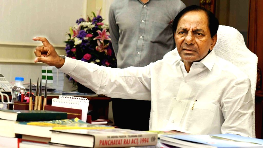 Telangana Chief Minister K. Chandrasekhar Rao during a review meeting on Panchayat Act, in Hyderabad on Aug 9, 2018. - K. Chandrasekhar Rao