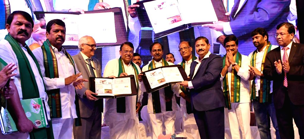 Telangana Chief Minister K. Chandrashekhar Rao during the MoU signing ceremony between the state government and Life Insurance Corporation of India (LIC), in Hyderabad on June 4, 2018. - K. Chandrashekha