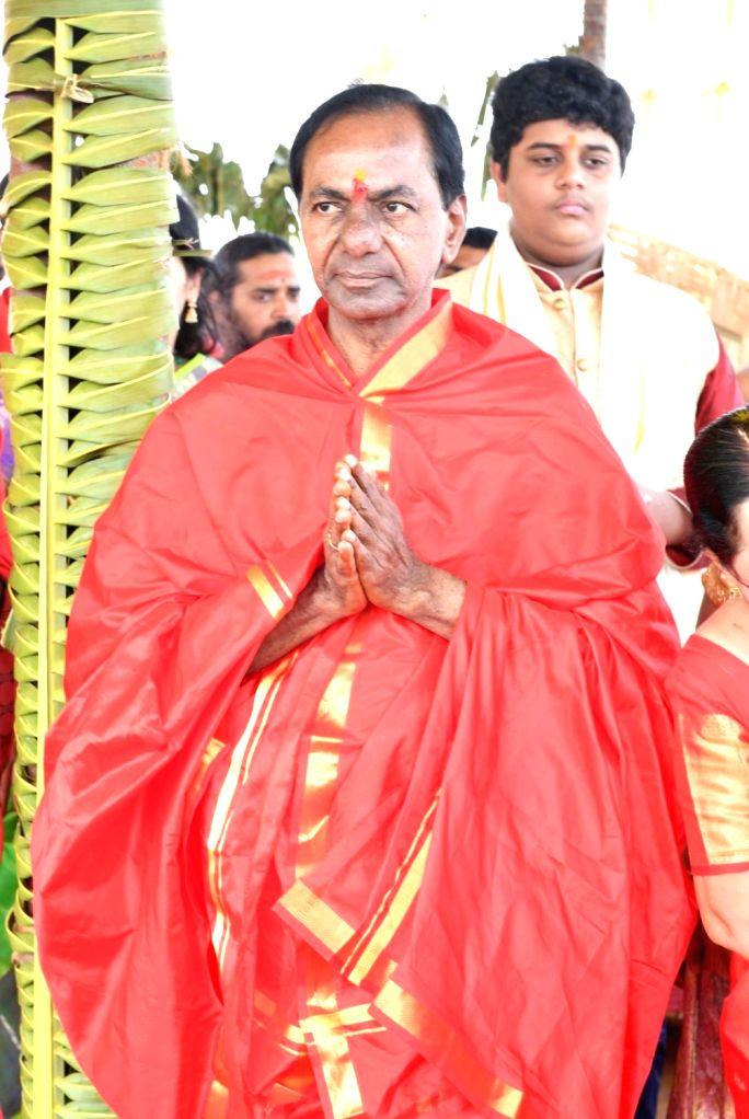 Telangana Chief Minister K.Chandrashekhar Rao. (Photo: IANS) - K.
