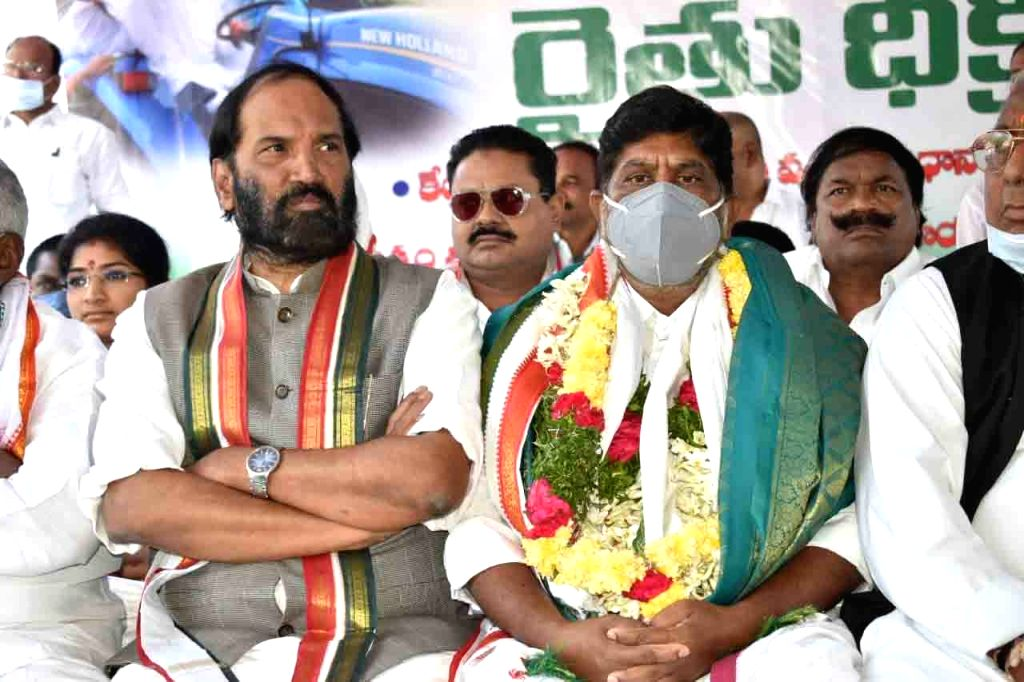 Telangana Congress leaders detained during protest over farm laws