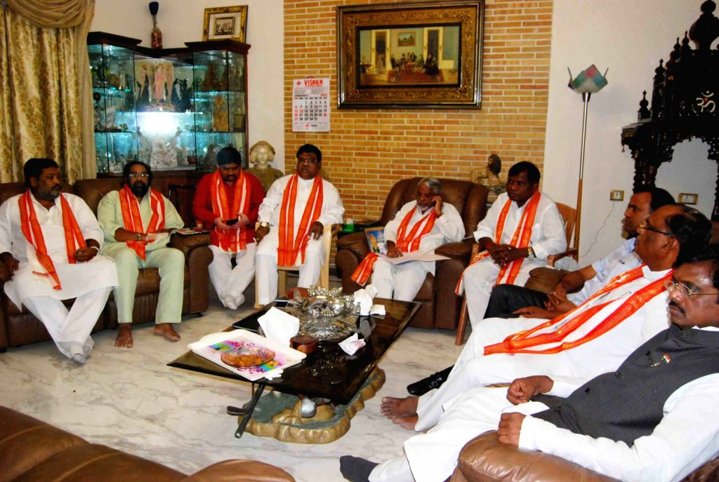 Telangana Congress MPs meeting held at the residence of MP G. Vinod in Hyderabad  on Jan 28 led by K. Keshava Rao. - K. Keshava Rao