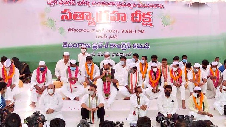 Telangana Congress seeks free treatment for Covid