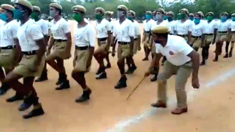 Telangana cop using Rafi's tunes to add zing to training.