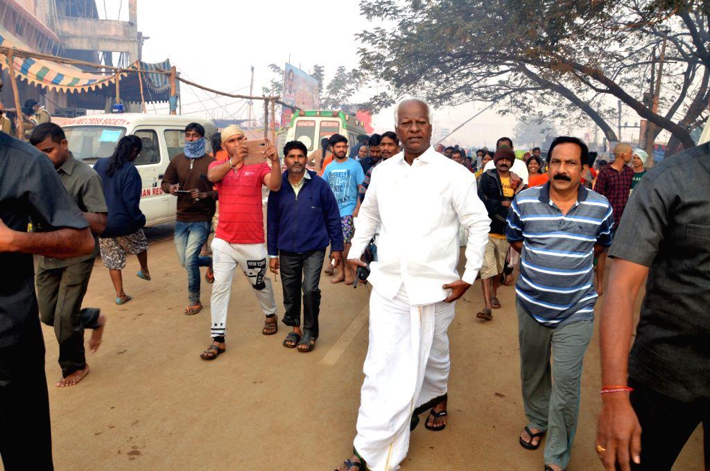 Telangana Deputy Chief Minister K Srihari during Medaram Samakka Sarakka Jatara festival in Warangal, Telangana  on Feb 1, 2018. - K Srihari
