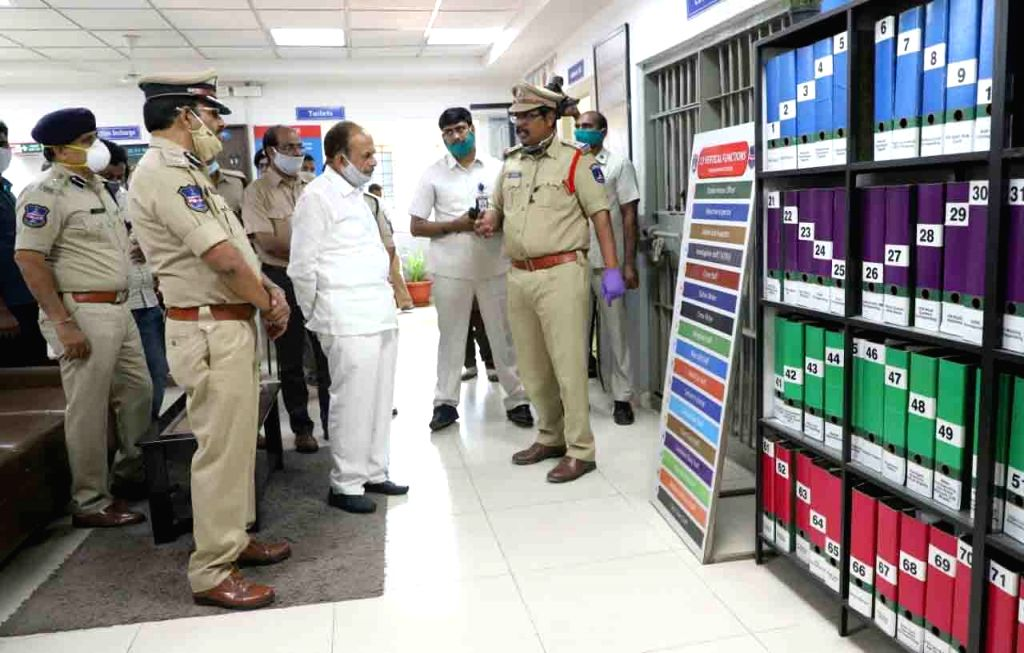 Telangana Home Minister Mahmood Ali meets Cyberabad Police Commissioner V C Sajjanar to review the lockdown situation in the city on Day 2 of the 21-day nationwide shutdown imposed by the ... - Mahmood Ali and Narendra Modi