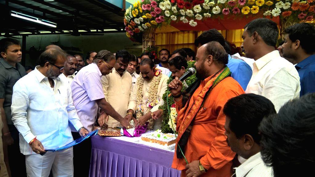 Telangana Home Minister Nayani Narasimha Reddy during the trailer launch of Telugu film `Chilkur Balaji`. - Nayani Narasimha Reddy