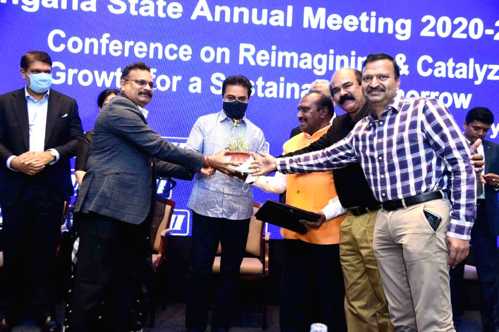 Telangana I T Minister, K T Rama Rao, CII Telangana Annual meeting Releasing Report on 5th March.
