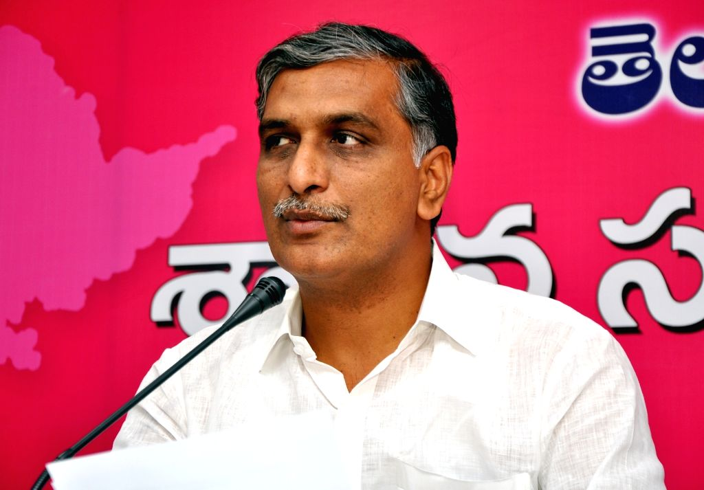 T  Harish Rao talks to the press