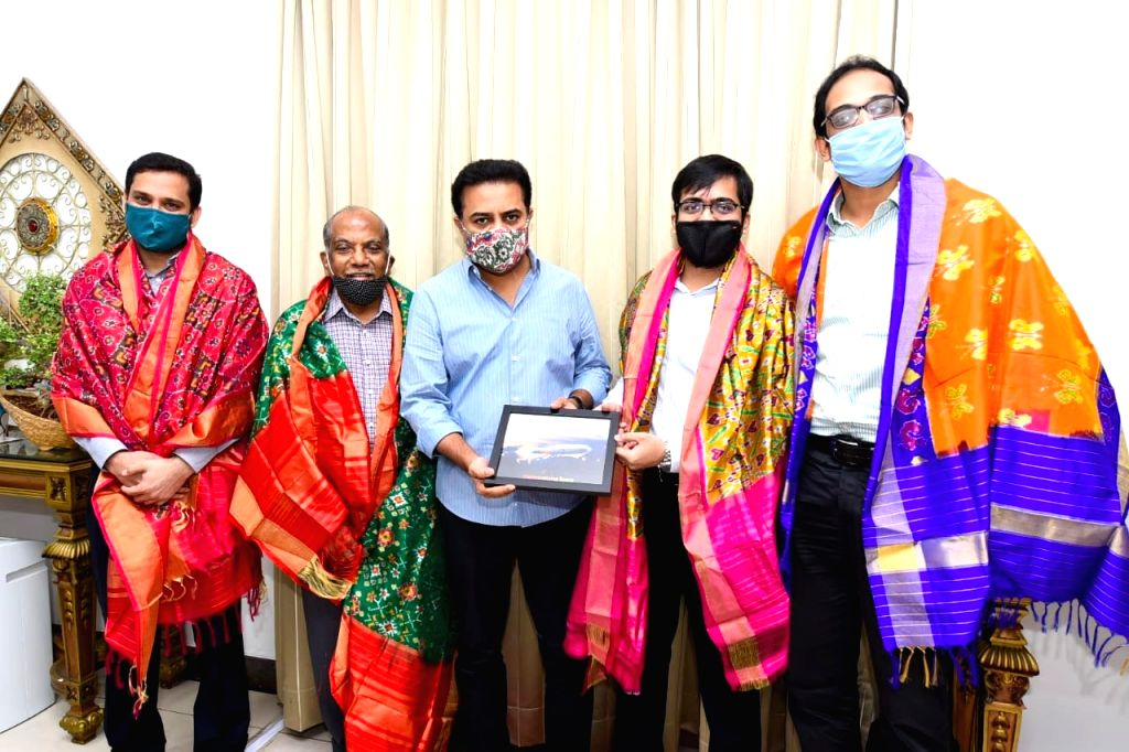 Telangana IT and Industries Minister KT Rama Rao meets the founding team of Skyroot Aerospace - a Hyderabad based Aerospace startup, which has successfully test fired an upper-stage rocket ... - K and Rao