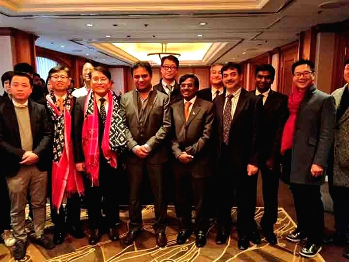 Telangana IT, Industries and Urban Development Minister K.T. Rama Rao during a meeting with investors in Seoul, South Korea on Jan 16, 2018. - K. and T. Rama Rao