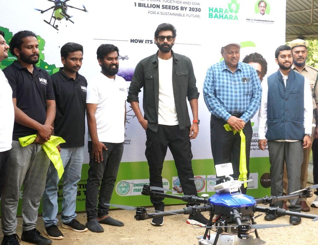 Telangana launches drone-based afforestation ???Hara Bhara???