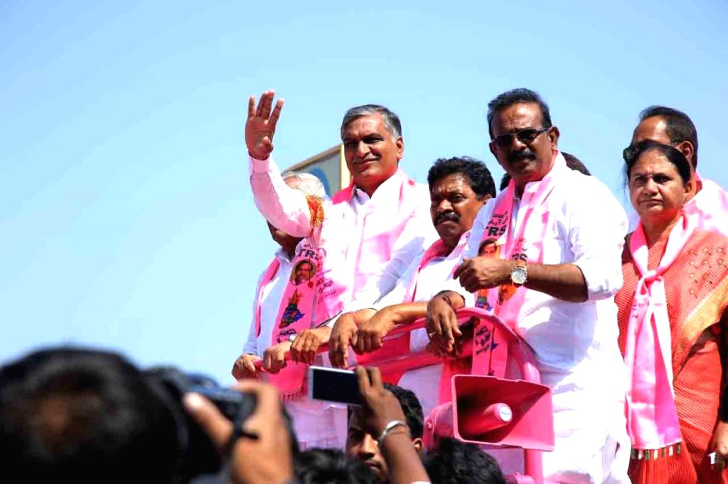 Telangana Assembly elections - T  Harish Rao during a roadshow