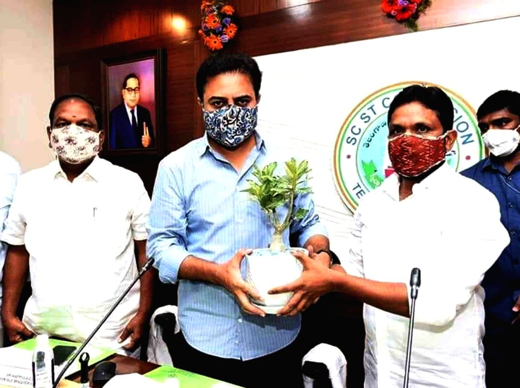 Telangana Municipal Administration and Urban Development Minister KT Rama Rao at the inauguration of the State SC, ST Commission Conference Hall and Commission Website, in Hyderabad on Oct ... - K and Rao