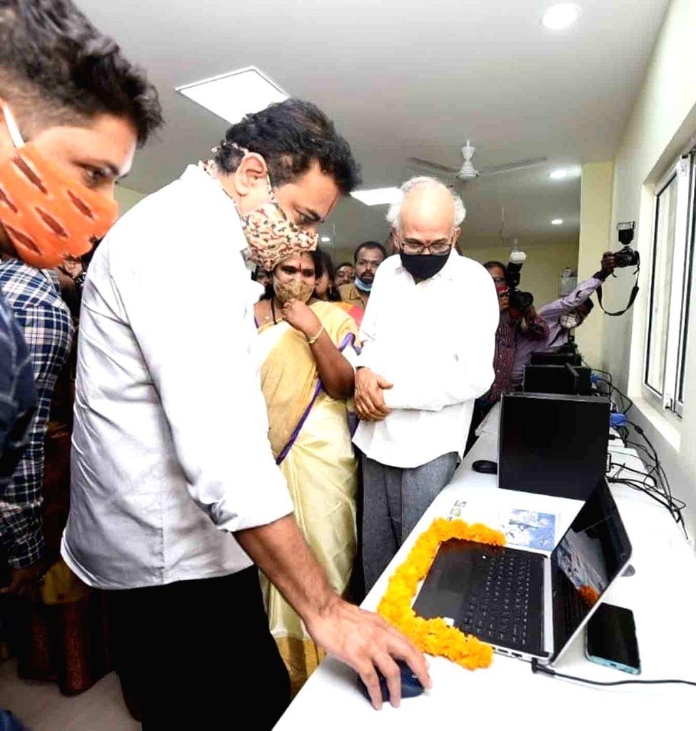 Telangana Municipal Administration and Urban Development Minister KT Rama Rao at the inauguration of a sports complex at Sanath nagar in Hyderabad on Nov 13, 2020, - K and Rao