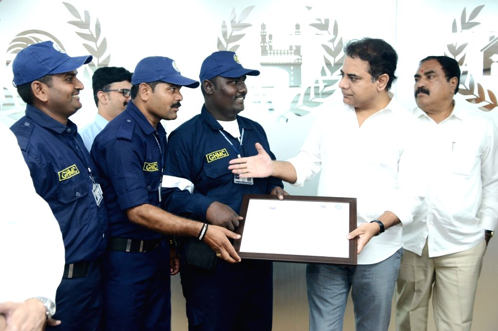 Telangana Municipal Administration and Urban Development (MA&UD) Minister K. T. Rama Rao during the inauguration of office of the Directorate of Disaster Management Cell, in Hyderabad ... - K. T. Rama Rao