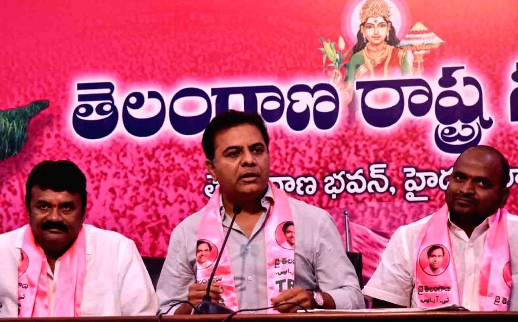 Telangana Rashtra Samithi (TRS) working president KT Rama Rao. (Photo: IANS) - Rao