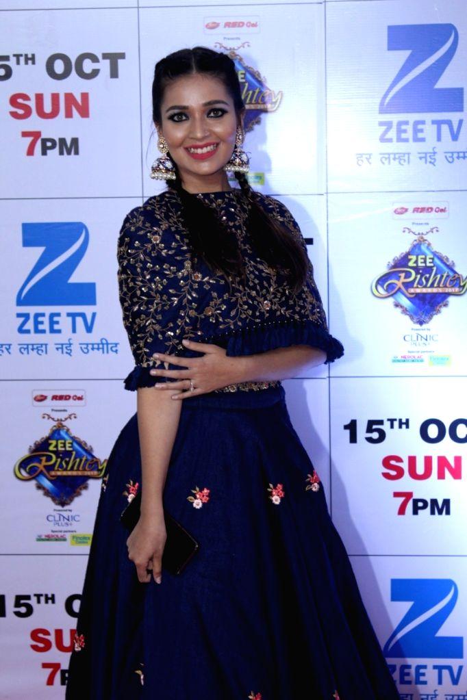 "Telelvision actress Mansi Srivastava during the red carpet of the grand celebration of ""Zee Rishtey Awards"" 2017 in Mumbai on Sept 10, 2017. - Mansi Srivastava"