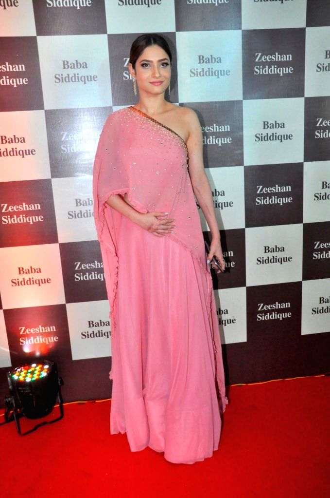 Television actor Ankita Lokhande during Congress leader Baba Siddique`s Iftar party, in Mumbai, on June 24, 2017. - Ankita Lokhande