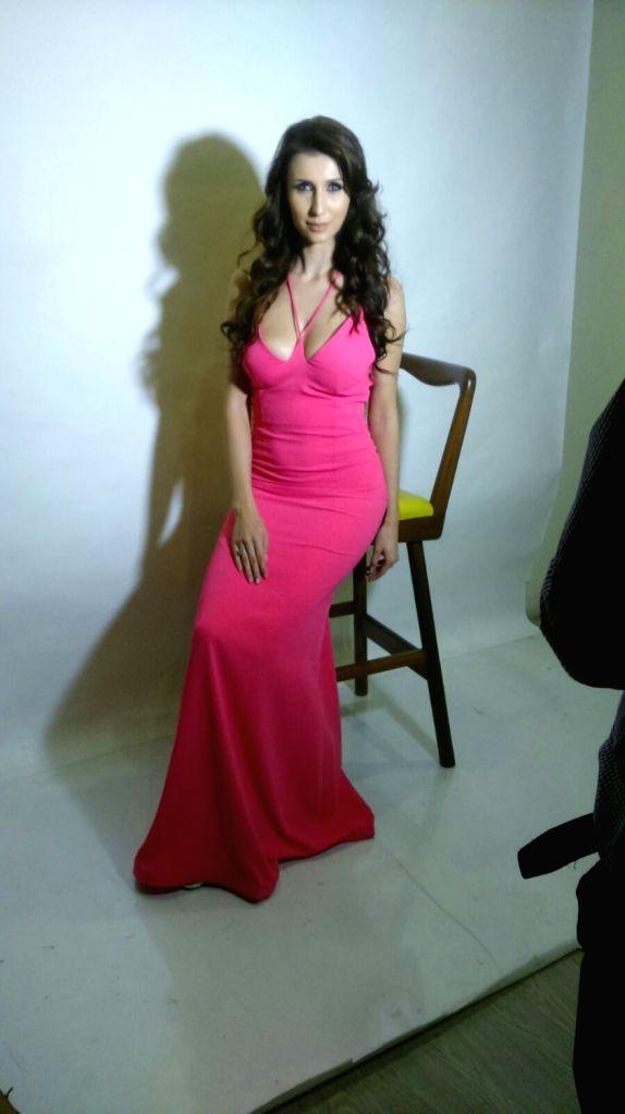 Television actor Claudia Ciesla during the photo shoot in Mumbai on Jan 13, 2016.