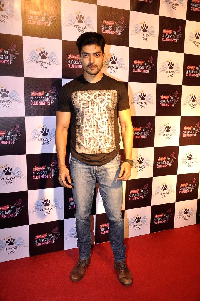 Television actor Gurmeet Choudhary during the launch of restaurant Heavens Dog, in Mumbai, on Sept. 5, 2014. - Gurmeet Choudhary