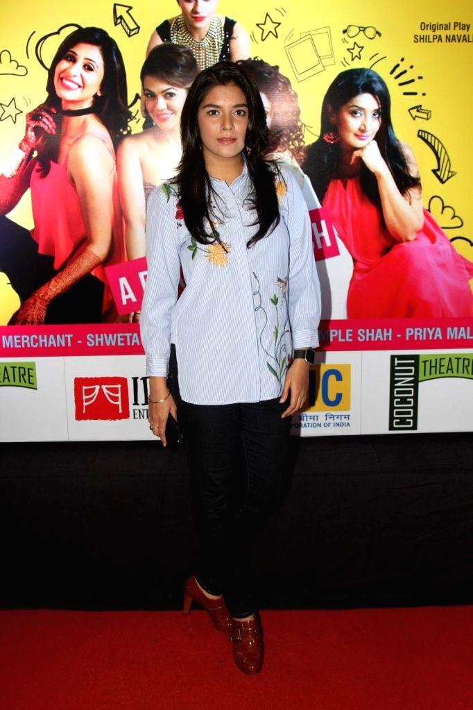Television actor Jayati Bhatia during the premiere of English play Selfie in Mumbai, on August 12, 2016. - Jayati Bhatia