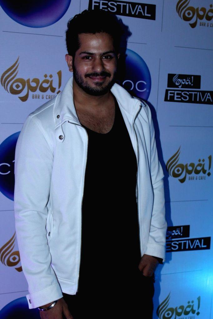 Television actor Karan chhabra during the celebration of Opa Bar and Cafe 1st anniversary, in Mumbai on Nov 22, 2016. - Karan