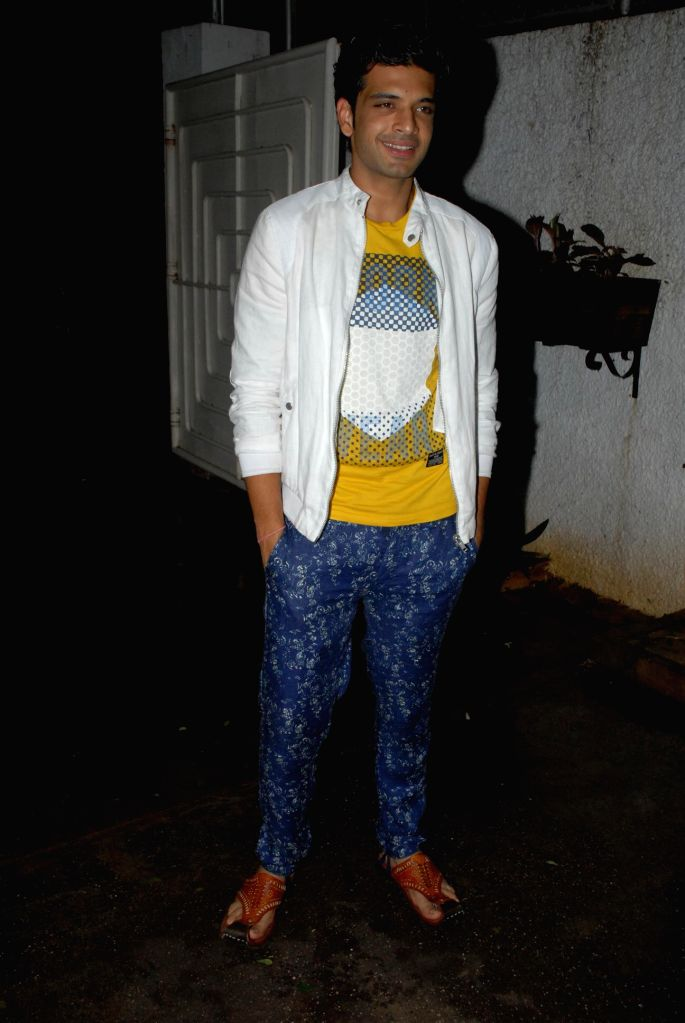 Television actor Karan Kundra during special screening of film Hate Story 2, in Mumbai on July 17, 2014. - Karan Kundra