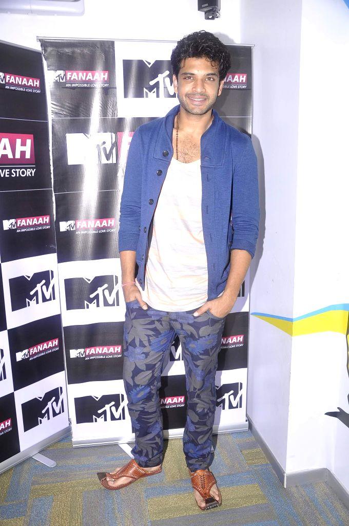 Television actor Karan Kundra during the press conference featuring his new show MTV Fanaah, a teen love story, in Mumbai on July 16, 2014. - Karan Kundra