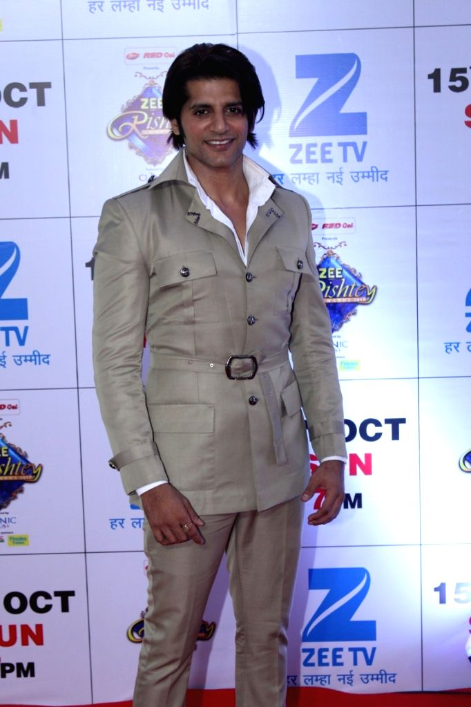 "Television actor Karanvir Bohra during the red carpet of the grand celebration of ""Zee Rishtey Awards"" 2017 in Mumbai on Sept 10, 2017. - Karanvir Bohra"