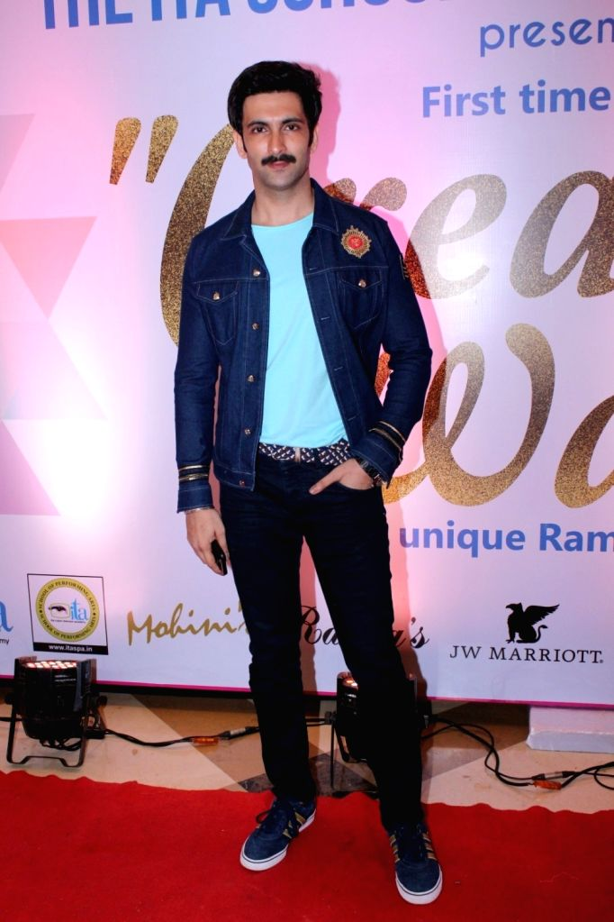 Television actor Nandish Singh during the 17th Indian Television Academy (ITA) Awards 2017 in Mumbai, on Aug 14, 2017. - Nandish Singh