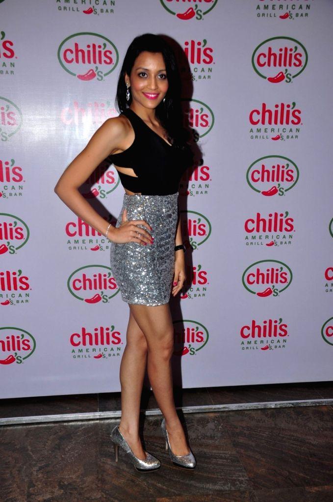 Television actor Nirali Mehta during the 1st wedding anniversary party of Ruslaan Mumtaz and Nirali at the Chili`s American Grill and Bar, in Mumbai on Nov 15, 2015. - Nirali Mehta