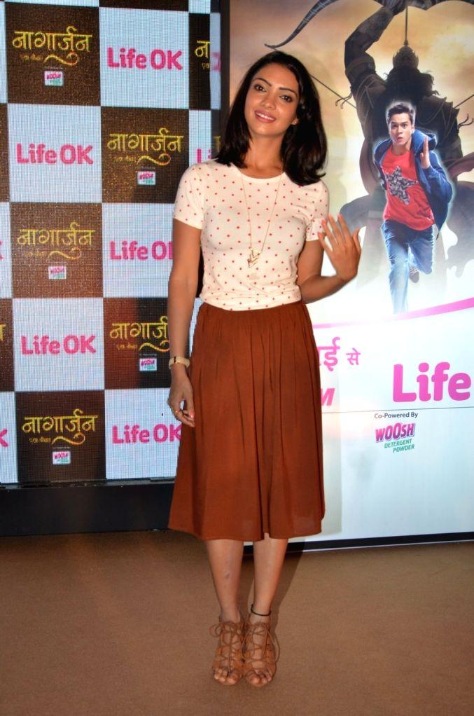 Television actor Pooja Banerjee during the launch of Life Ok`s new television show Naagarjuna - Ek Yoddha, in Mumbai on May 24, 2016. - Pooja Banerjee