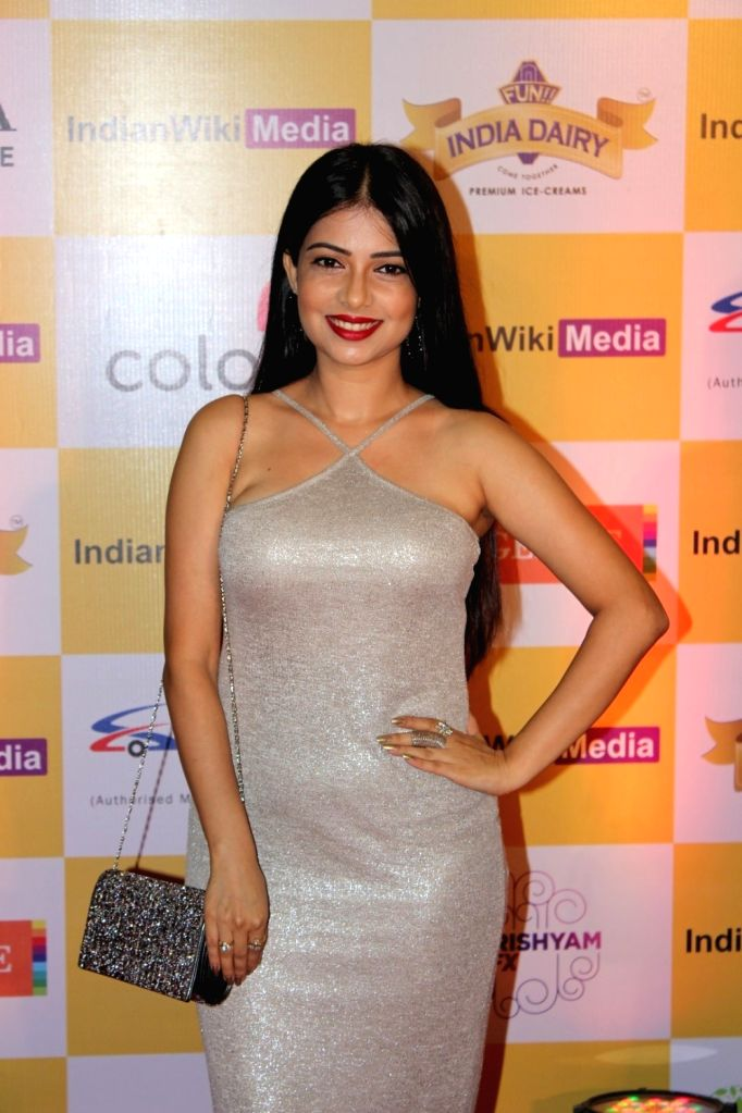 Television actor Pooja Singh during the launch party of indianwikimedia.com, in Mumbai on June 16, 2017. - Pooja Singh