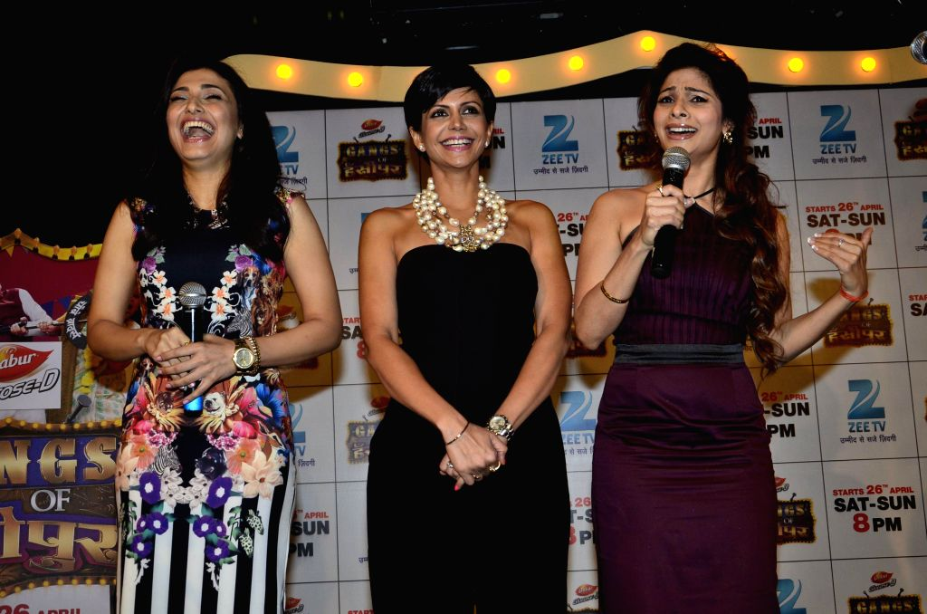 Television actor Ragini Khanna, Bollywood actors Tanishaa Mukherjee and Mandira Bedi during the launch of Zee Television serial Gangs of Hasseepur in Mumbai, on April 17, 2014. - Ragini Khanna, Tanishaa Mukherjee and Mandira Bedi