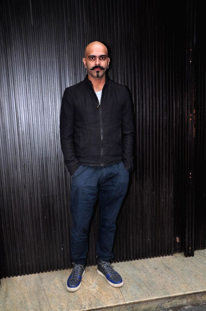 Television actor Rajiv Laxman during the music launch of film 3AM, in Mumbai, on Sept 9, 2014. - Rajiv Laxman