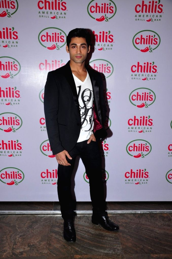 Television actor Ruslaan Mumtaz during his 1st wedding anniversary party at the Chili's American Grill and Bar, in Mumbai on Nov 15, 2015.