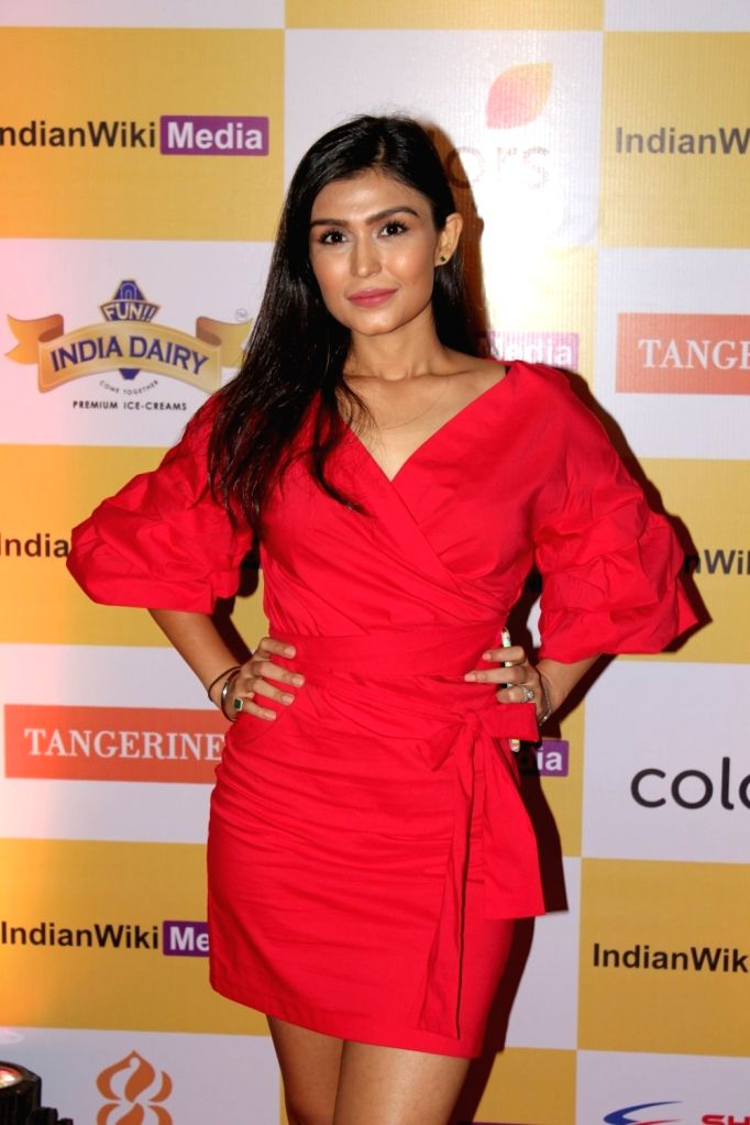 Television actor Simran Kaur during the launch party of indianwikimedia.com, in Mumbai on June 16, 2017. - Simran Kaur