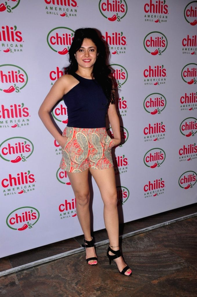 Television actor Sonal Sengal during the 1st wedding anniversary party of Ruslaan Mumtaz and Nirali at the Chili`s American Grill and Bar, in Mumbai on Nov 15, 2015. - Sonal Sengal
