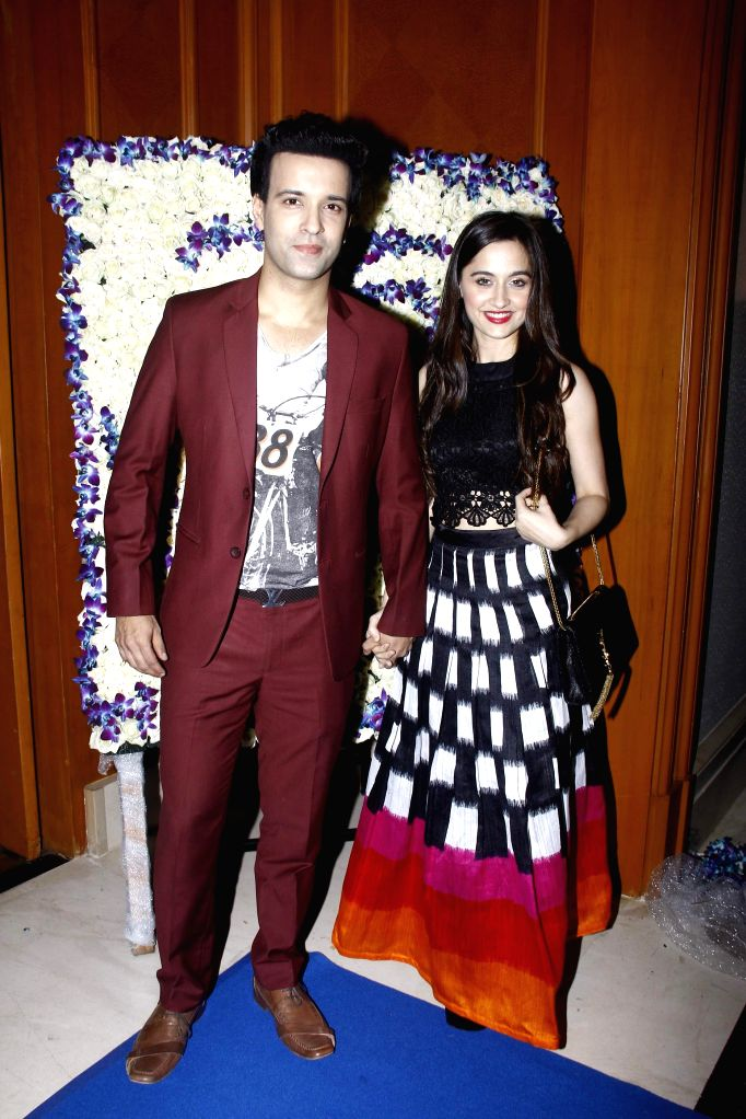 Television actors Aamir Ali and Sajida Ali during the 25 years celebration of G.V Films and launch of its new website, in Mumbai on Aug 01, 2015. - Aamir Ali and Sajida Ali