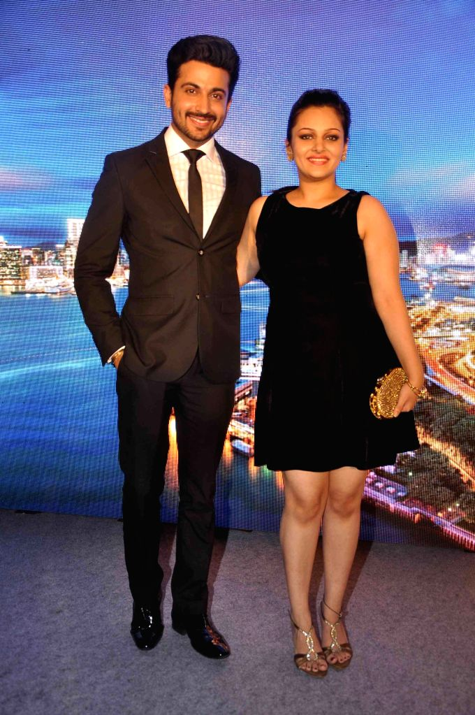 Television actors Nehalaxmi Iyer and Dheeraj Dhoopar during the launch of Hong Kong tourism's new marketing campaign My Time for Hong Kong, in the Indian market, in Mumbai on April 9, 2015.