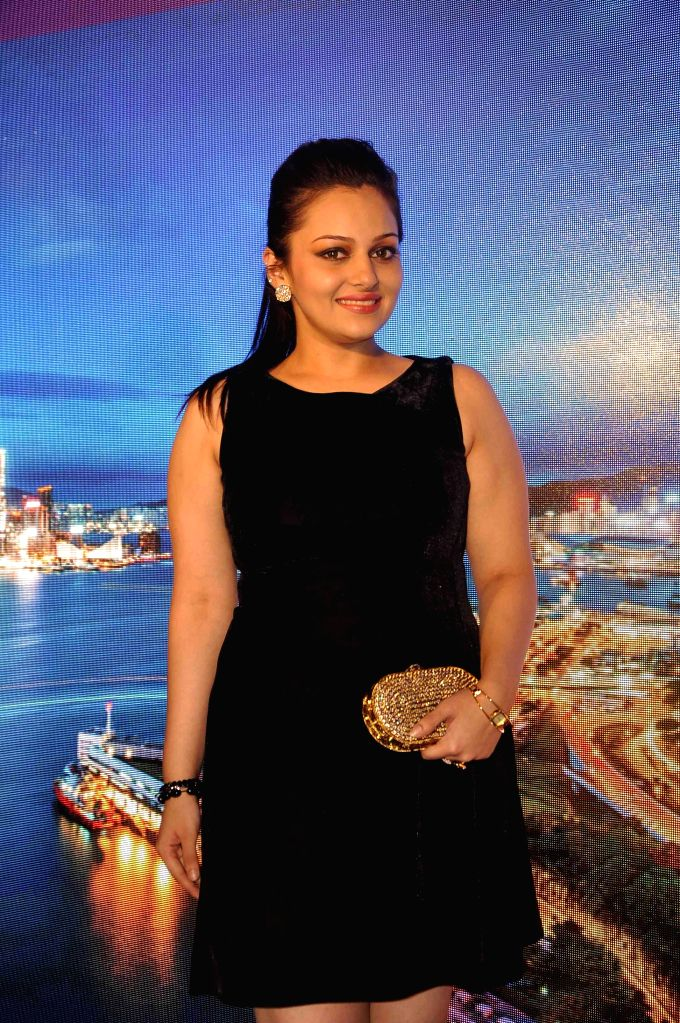 Television actors Nehalaxmi Iyer during the launch of Hong Kong tourism's new marketing campaign My Time for Hong Kong, in the Indian market, in Mumbai on April 9, 2015.