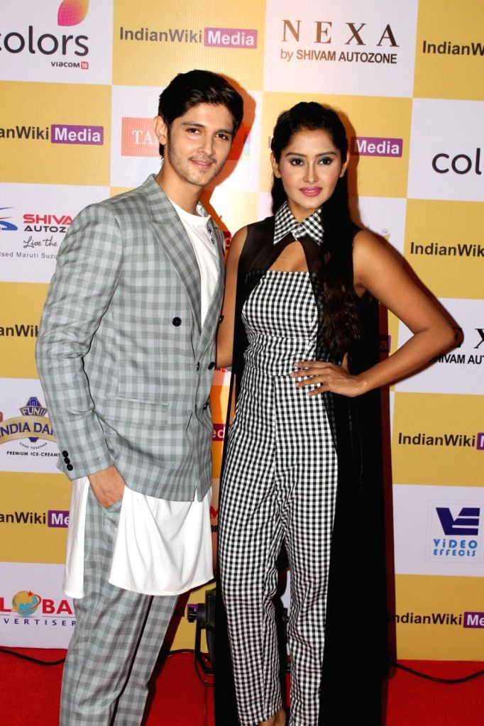 Television actors Rohan Mehra and Kanchi Singh during the launch party of indianwikimedia.com, in Mumbai on June 16, 2017. - Rohan Mehra and Kanchi Singh